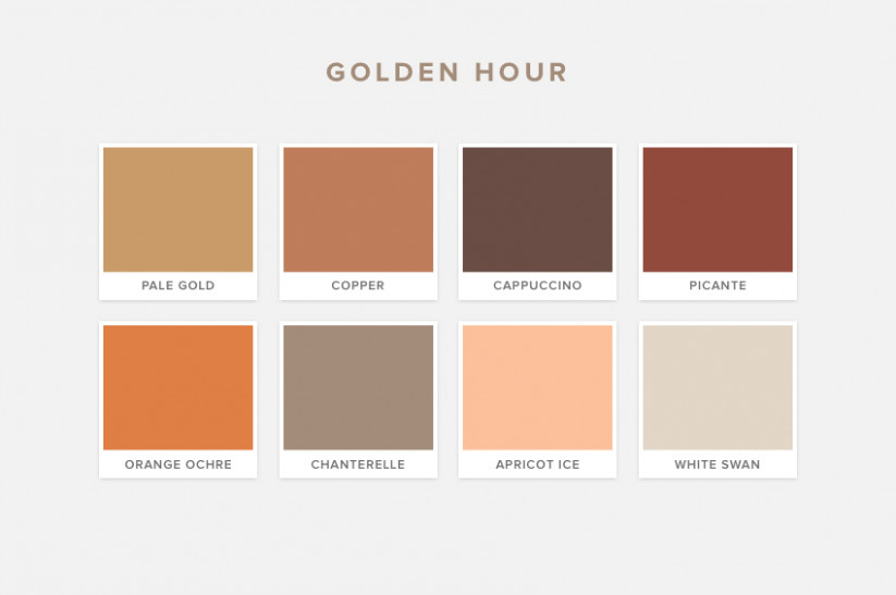 Golden Hour Pantone Wedding Colours