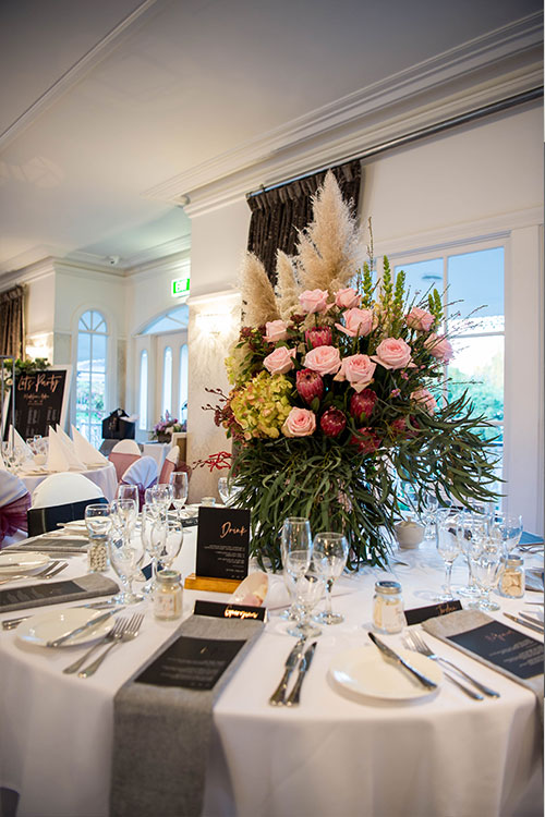 Bridal Expos Melbourne - Winter Wedding Styled Shoot - Ballara Receptions - Table Setting from Very Inviting - Flowers from Scentsational Flowersl
